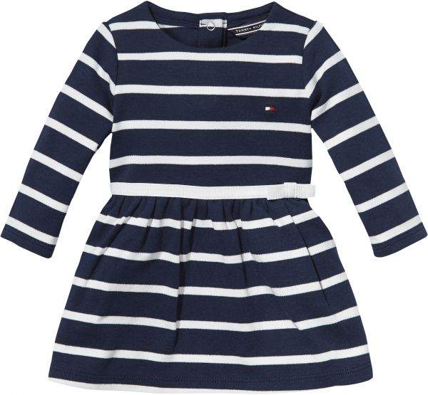 Tommy Hilfiger Striped A Line Dress For Newborn Baby Girls 12
