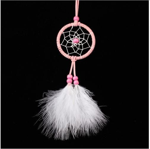 Pink Handmade Feather Dream Catcher Hanging Decoration For Home Amazing Dream Catcher To Hang In Car