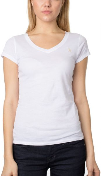 U S Polo Assn White V Neck T Shirt For Women Souq Uae