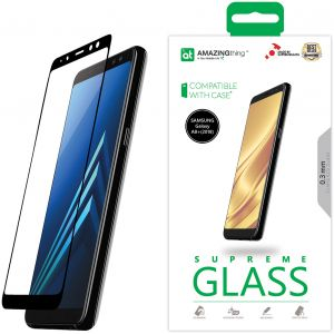 Amazing Thing Samsung Galaxy A8 PLUS (2018) Full Glue Tempered Glass Screen Protector 2.5D - Supreme Glass A8plus