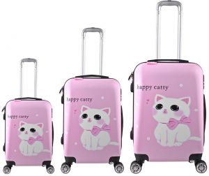 7627dd60e25cf Trolley Travel bags Set 3 pieces - Pink