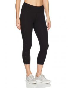 ddfd24fbf3782 Betsey Johnson Women's Laser Cutout Mesh Crop Legging, Black, XL ...