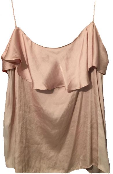 d6f0f73e5143a Zara Salmon Pink Round Neck Cami   Strappy Top For Women