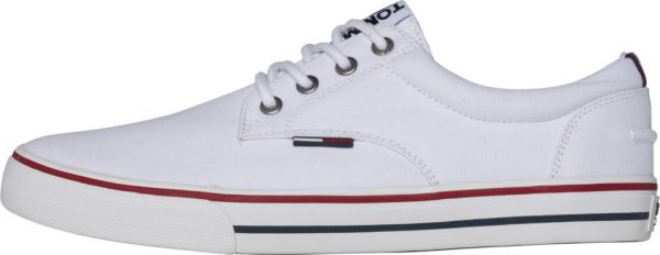 205163c995bdf3 Tommy Hilfiger Jeans Textile Fashion Sneakers for Men - White