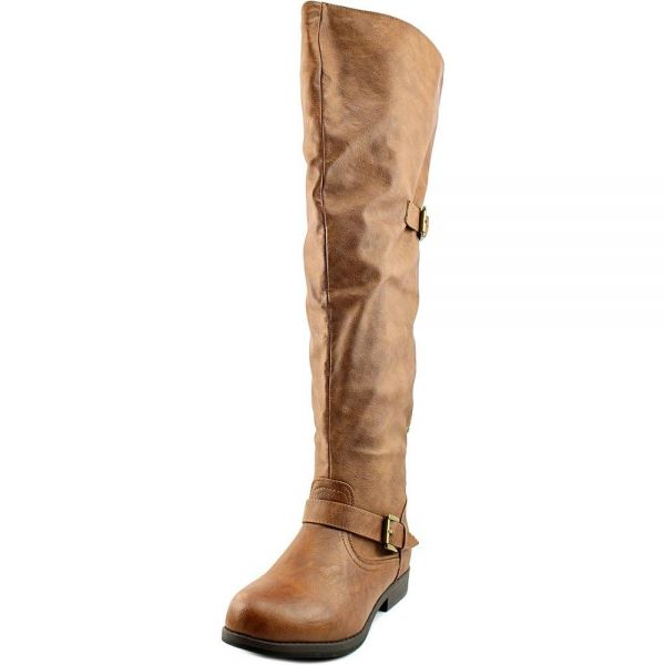 Brinley Co Women S Sugar Over The Knee Boot Chestnut 6 Regular Us Souq Uae