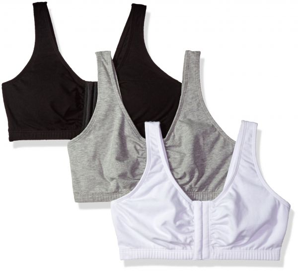 0b76e70ee963f Fruit of the Loom Women s Front Close Builtup Sports Bra
