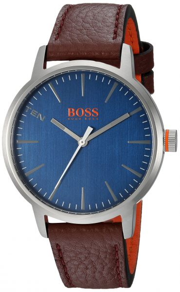458c528f9 Hugo BOSS Men s  Copenhagen  Quartz Stainless Steel and Leather Casual  Watch
