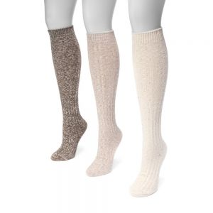 f64cd28e7 Muk Luks Women s 18   Knee High Confetti Cable Sock