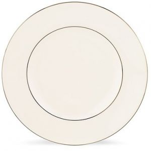 Lenox Continental Dining Platinum Banded 5 Piece Place Setting Accent Plate  White 6145585