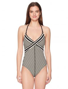 79b8bcd808531 Robin Piccone Women s Carmen V-Neck One Piece Swimsuit