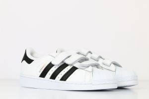 adidas White & Black Fashion Sneakers For Boys