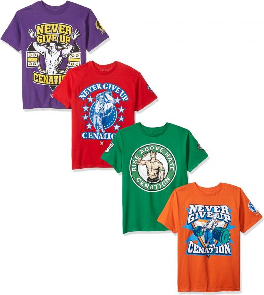 Wwe Little Boys John Cena 4 Pack T Shirt Kelly Green Purple Red Orange M 5 6 Souq Uae