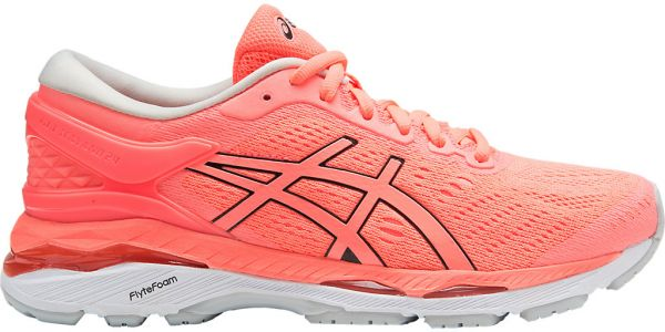 Asics K Run Gel-Kayano 24 Running Shoes For Women - Black   White ... e8c09e4ea0