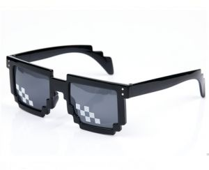 8c14408c2d3 Minecraft Creeper of mosaic sunglasses for boys outdoors funny sunglasses  as gift black-sss