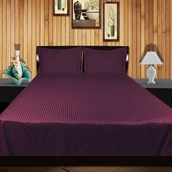 Just Linen Purple King Plus Size 108 X 108 Inches Flat Bedsheet With