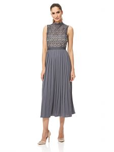 Little Mistress A Line Dress For Women - GREY