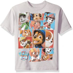 Nickelodeon Boys Little Paw Patrol Short Sleeved T Shirt Silver 7