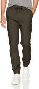 Southpole Men's Jogger Pants Washed Ripstop Fabric with Cargo Pockets, New Olive Stretch, X-Large