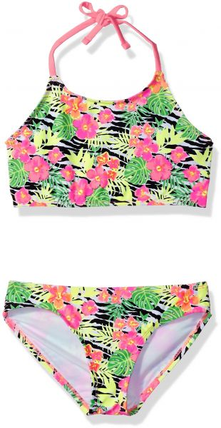 60f6229951 Freestyle Big Girls  Two Piece Zebra Bloom Bikini Swimsuit Set