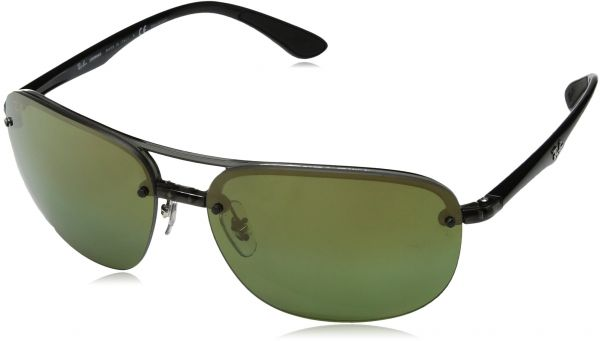 fc55b4563b Ray-Ban Men s Plastic Man Polarized Iridium Square Sunglasses