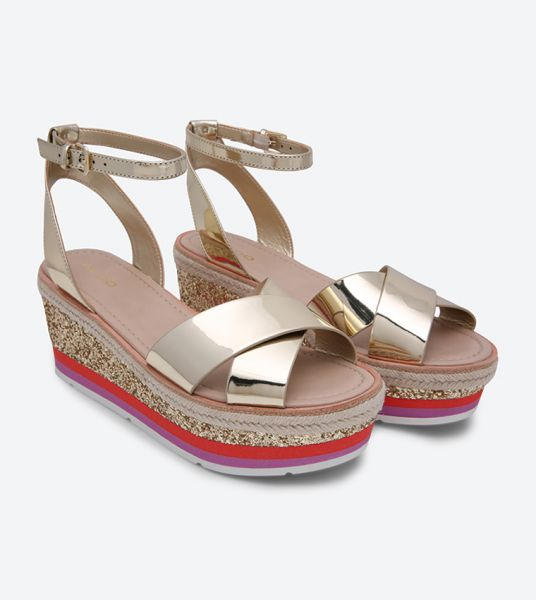 Aldo Asiella Wedges for Women - Gold