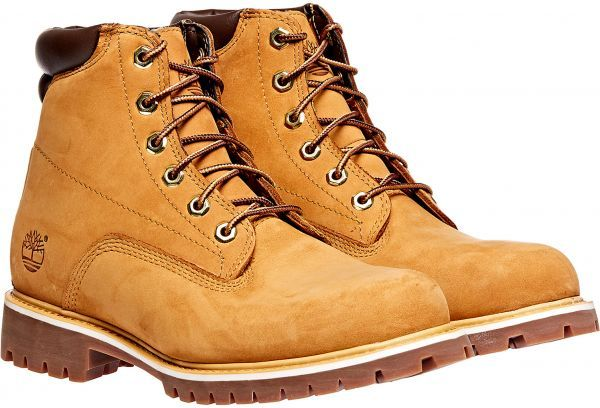 Timberland 6 Inch Basic Waterproof Lace Up Boots for Men - Brown ... 68b855628