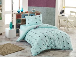 50fa354151c Eponj Home Flamingo Green and Black Single Size 155 x 200 cm Quilt Cover Set  - 2 Pieces