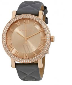 ea9331b615c Michael Kors Norie Women s Rose Gold Dial Leather Band Watch - MK2619