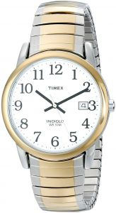3992a1d73fc9b Timex Men s Easy Reader Date Expansion Band Watch Two-Tone