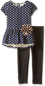 Marmellata Girls Short Sleeve Top and Legging Outfit Set