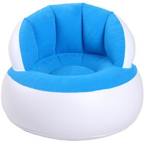 Inflatable Chair Air Sofa Bean Bag Lounge Chair for Home Office Bedroom Living Room Child Kid (White and Blue) | Souq - UAE  sc 1 st  Souq.com & Inflatable Chair Air Sofa Bean Bag Lounge Chair for Home Office ...