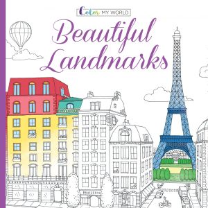 Color My World Beautiful Landmarks Adult Coloring Book