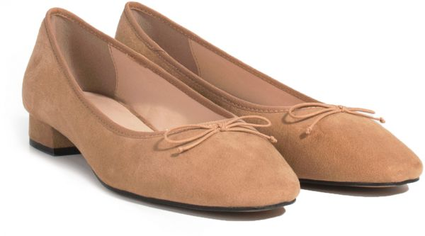 63b95973c071 Parfois Square Flat Shoes for Women - Camel