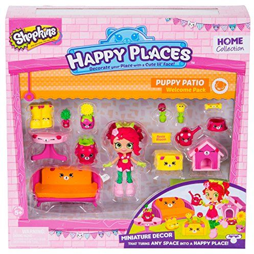 Happy Places Shopkins Season 2 Welcome Pack Puppy Patio