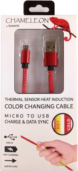 Souq | Livewire Chameleon Micro to USB charge and data sync color ...