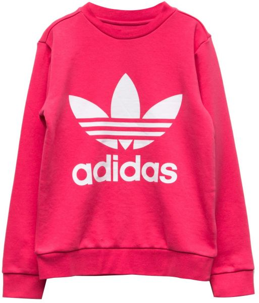 e58ef9dfd6a0 adidas Originals Big Girls  Originals Trefoil Crew Sweatshirt