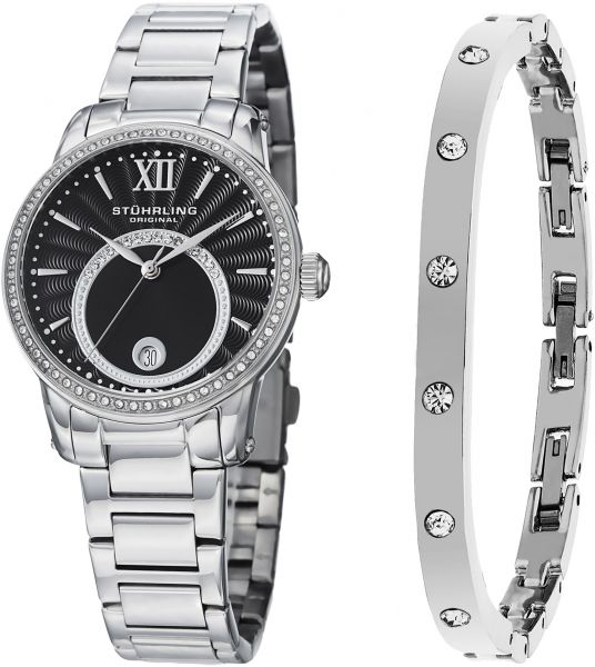 Stuhrling Original Women S Silver Dial Stainless Steel Band Watch