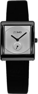 c4d9d5f06ed ZOMO Aroma Womens Designer Watch-Analog Swiss Quartz Classic Watche- Stainless  Steel Rectangle Dress Watch with Silver Dial and Black Leather Strap Silver  ...