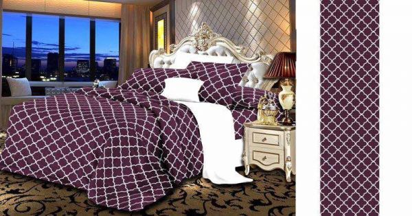 King Size, Cotton,Damask Pattern, Multi Color   Bed Sheets