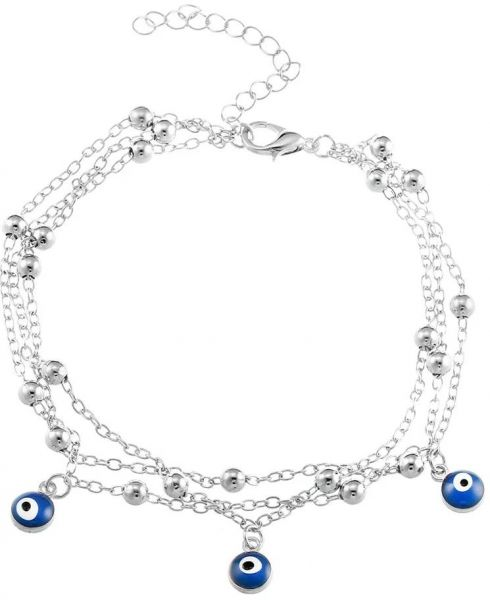 Fashion Turkish Blue Evil Eyes Beads Anklets For Women Pendant Anklet  Bracelet Foot Jewelry Gift  6a53eb4db8