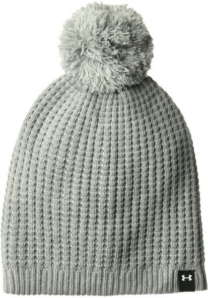 a2de0efba06 Under Armour Women s Armour favorite waffle pom beanie grey