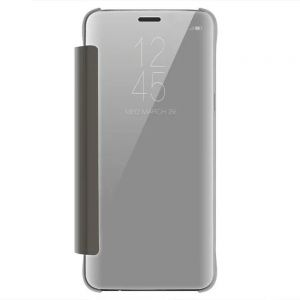 Case Cover for Samsung Galaxy S9 Plus Luxury Clear View Mirror Flip Smart - SILVER