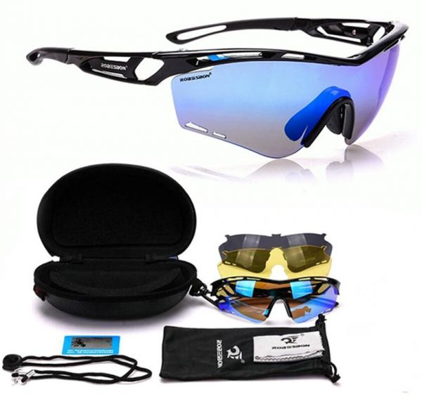 a4cb3ff2ee5 Interchangeable 3 Colors Polarized Lens UV400 Light Cycling Sunglasses  Outdoor Sport Mountain Bike Bicycle Glasses Goggles Riding Eyewear   EW-RB01A
