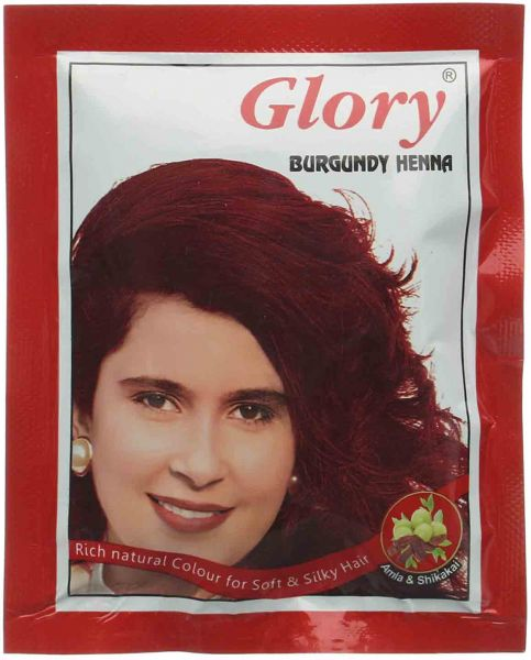 Glory Colored Henna Sachet Burgundy 10 Gm Souq Egypt