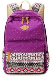Women's double-shouldered backpack, wear-resistance college chic style high school students' trend, canvas bag, national wind pack, computer backpack-xb
