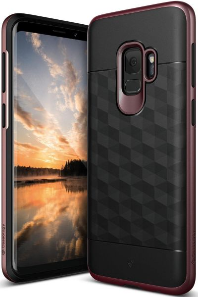 newest 348a8 16980 Samsung Galaxy S9 Case Cover , Caseology , Parallax Series, High Pro Shield  , Drop Protection , Heavy Duty , Burgundy