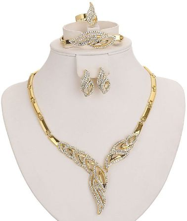 Women Gold plated accessories set