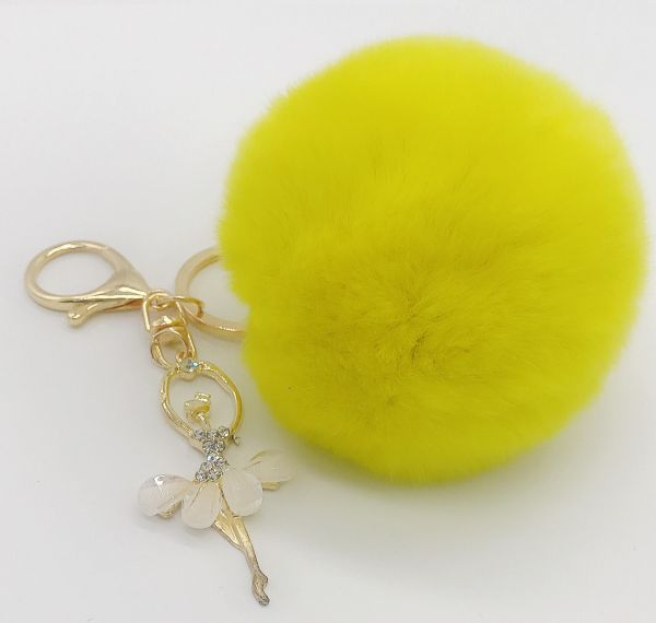 Key chain with fluffy fur and nice pandant  30f57e6d6
