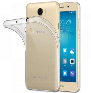 Huawei Y5II ( HONOR 5- HONOR 5 Play) TPU Silicone Clear Case Back Cover by Muzz