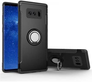 Samsung Galaxy Note 8 Shockproof Rugged Case With Ring Grip Holder Dual Layer Hybrid Protective Back Cover S